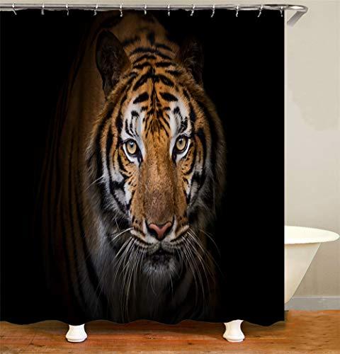 ZZZdz nietmachine grote tijger. Waterdicht. Eenvoudig over te nemen. 12 vrije haken. 3D-Hd-druk. verbleekt niet. Douchegordijn 180 x 180 cm.