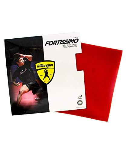 Fantastic Prices! Killerspin Fortissimo Blast Red Max Table Tennis Rubber