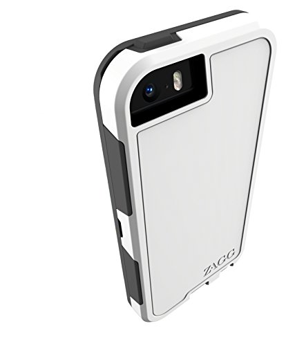 ZAGG InvisibleShield Arsenal Case with Screen Protector for iPhone 5/ iPhone 5S/ iPhone 5SE - White