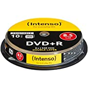 Intenso DVD+R 8,5GB Double Layer Printable 8x Speed 10er Spindel