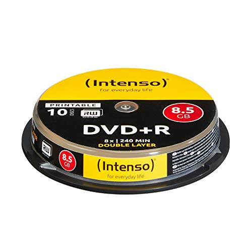 Intenso DVD + R 8.5GB DL Print.10 Cake Box Double - Paquete de 10