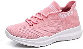 ZJSWIN Women's Shoes Summer New Socks Shoes Women's Shoes Wild Lace Casual Sports Shoes Women (Color : Pink, Size : 35EU)