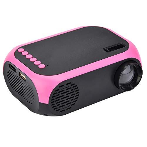proyector LED Bewinner Video Beamer Mini Proyector portátil portátil Proyector de cine en casa HD 1080P Compatible con USB / SD / HDMI / AV (enchufe de la UE)