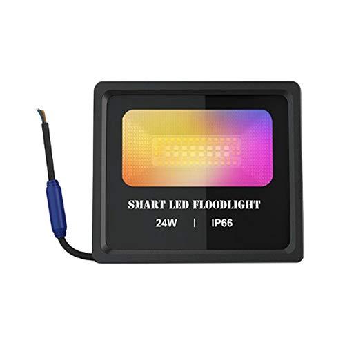 Camisin Smart LED Floodlight 24W APP Control al aire libre Smart RGB Inundación Luz IP66 Impermeable Jardín Foco Iluminación