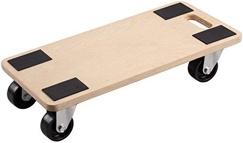 Metafranc Transportroller 590 x 290 mm - 500 kg Tragkraft - Sperrholz - PP-Räder / Möbelroller / Transporthilfe für Umzug / Rollwagen für Möbel-Transport / Kistenroller aus Holz / 822120