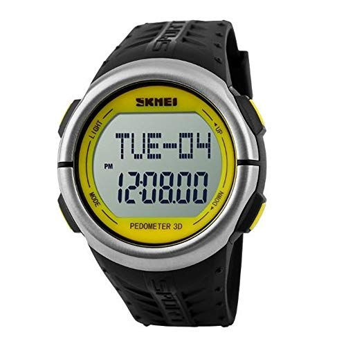 Relógio Esportivo Digital, Skmei, Pedômetro, Masculino, 1058, Preto