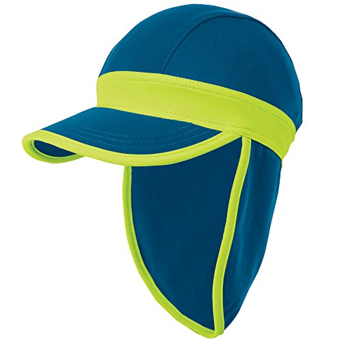 Royal Blue and Lime Green Baby Sun Hat by Sun Smarties, Size Small