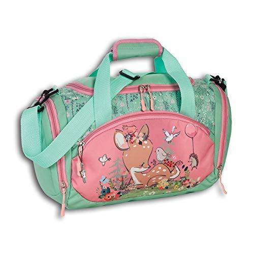 Fabrizio Kinder Freizeittasche Rekitz Blumen Reisetasche REH rosa grün D2OTI206L EIN Geschenk zu Weihnachten, Geburtstag, Valentinstag für Kinder