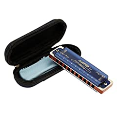 Professional harmonica for adult-East top 10 hole professional diatonic harmonica, suitable for Blues, Folk, Rock, Country, Jazz etc. Great for professional harmonica players and beginners. This Professional Blues Harmonica has exquisite workmanship,...