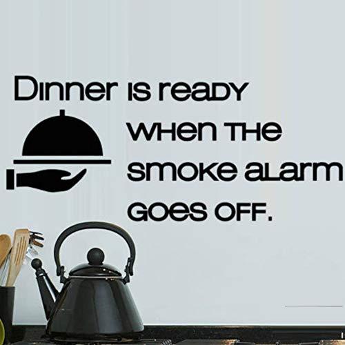 Abendessen Bereit Rauchmelder Küche Lebensmittel Wandkunst Aufkleber Decals Vinyl Home Decor...