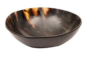 Genuine Horn Viking Medieval Round Feasting Bowl