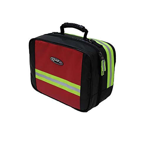 Kemp USA 30.5' Black, Red, and Green Outdoor Fluid-Resistant Large Responder Bag with Medication Pouch