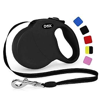 DDOXX Laisse Chien Enrouleur, Réfléchissante   Nombreuses Couleurs & Tailles   pour Petit, Moyen Gros & Grand   Laisses rétractable Chat Chiot   XS, 3 m, à 8 kg, Noir