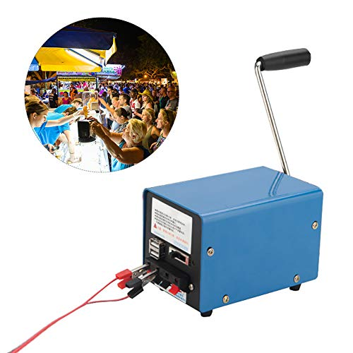 Luerme 20W Handkurbelgenerator Handkurbelgenerator High Power Notüberlebens Werkzeuge Tragbare Kraftstation Batterie für Camping Outdoor Reisen Wandern Notfall