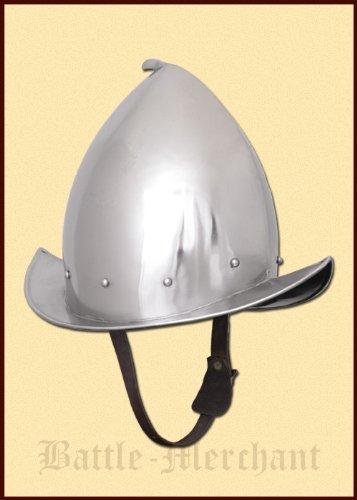 Sacapuntas morrión casco con cuero Material interior - Pappenheimer - Landsknecht