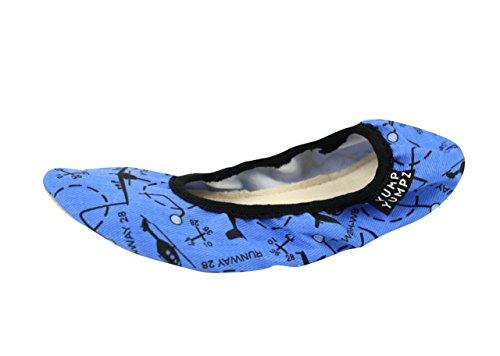 Chaussons de gymnastique en coton - Chaussons de dance - Bleu - Yump Yumpz - Bleu - bleu, 26 EU