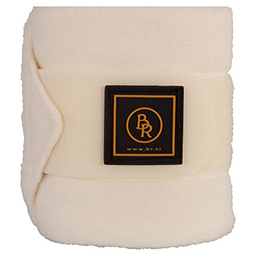BR Fleece bandages/Polo Event Fleece, 4-delige set in luxe tas, in de kleur champagne