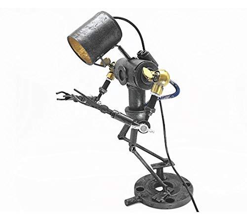 Leeslamp bedlampje tafellamp bureaulamp tafellamp tafellamp retro smeedijzeren versierd tafellamp creatieve nostalgische persoonlijkheidsbarcafédecoratie handwerk industrieel windlicht