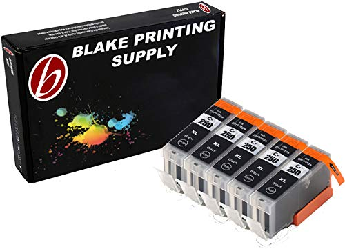 Blake Printing Supply 5 Big Black Compatible Ink Cartridges for PIXMA MG5520