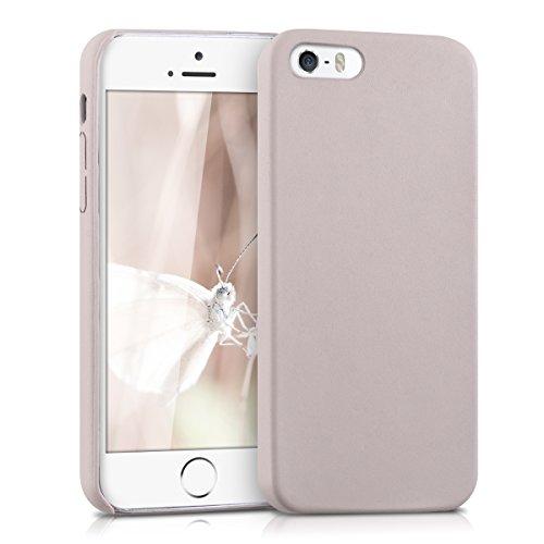 kwmobile Hülle kompatibel mit Apple iPhone SE (1.Gen 2016) / 5 / 5S - Handy Hülle Handyhülle - Kunstleder Schutzhülle in Beige