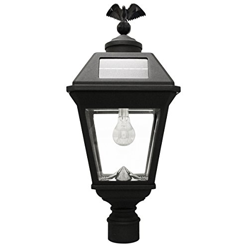 Gama Sonic GS-97B-F Imperial Bulb Light Outdoor Solar Lamp, 3