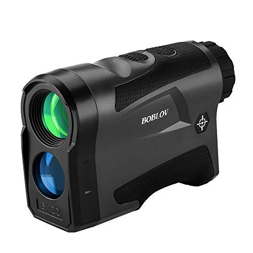BOBLOV Entfernungsmesser Golf Rangefinder LF600G 650 Yards mit Flag-Lock 6X Vergröß Entfernung Geschwindigkeit Messen Für Golf mit USB Aufladen & Vibration on/Off (Schwarz)