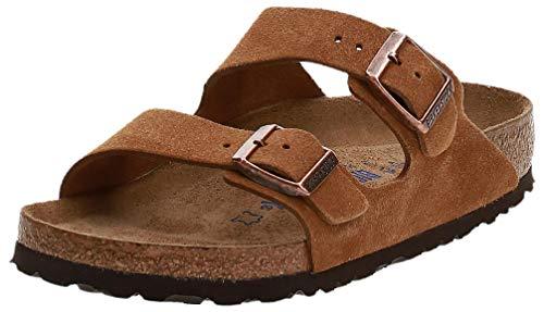 Birkenstock Unisex Arizona SFB Tobacco Oiled Leather Sandals - 39 M EU / 8-8.5 B(M) US