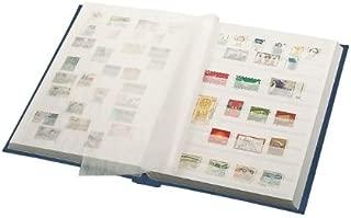LINDNER Stamp Stockbook- Blue Cover- 60 White Pages- Glassine Strips- Double Glassine Interleaving