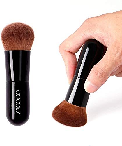 Docolor Foundation Brushes Kabuki Brush Gesichtspuder mit großer Kontur Rouge Kosmetik Perfekt für pulverförmiges Mineral Make Up Schwarz