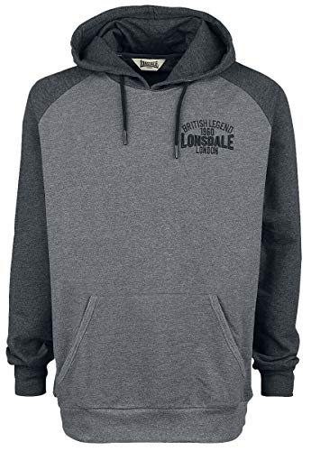 Lonsdale London Haldane Kapuzenpullover grau meliert XL