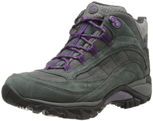 Merrell Women's Siren Waterproof Mid Hiking Boot,Castle Rock/Blue,7 M US