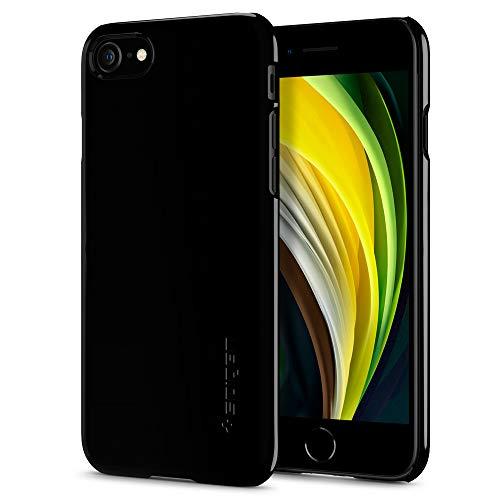 Preisvergleich Produktbild Spigen 042CS20845 Thin Fit Kompatibel mit iPhone 8 / 7 Hülle,  Slim PC Schale Hardcase Leicht Dünn Schutzhülle Handyhülle Case Jet Black