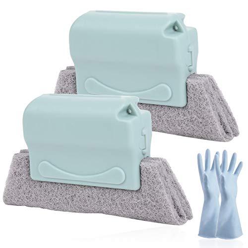Cepillo de limpieza para ranuras de ventanas, cepillo de limpieza para ranuras, cepillos de limpieza reutilizables, fáciles de desmontar y limpiar