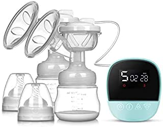 Electric Breast Pump, Quiet Mother and Baby Products with High Suction Power, Rechargeable 3 Modes, 27-Speed Powerful Suct...