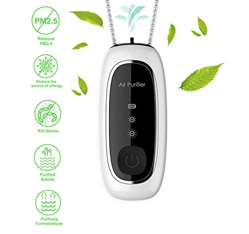 %14 OFF! 2020 Upgraded version Wearable Air Purifier,Personal Necklace Air Freshener, Mini Portable ...