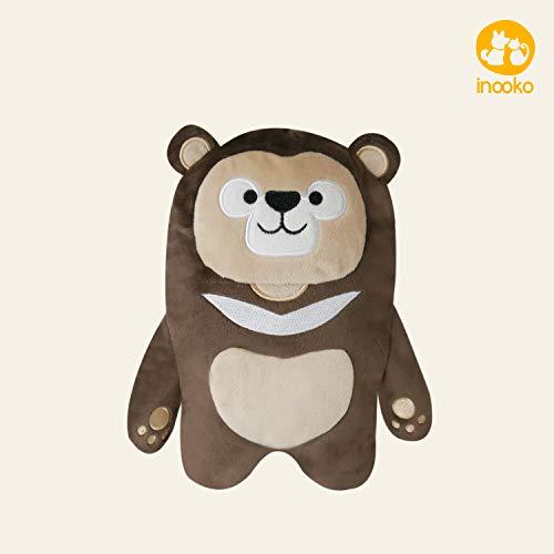 inooko - Mountain Folks, Max l'ours, Jouet en Peluche Toute Douce et résistante pour Chien. Eco-Friendly. Taille M (20 x 15 cm)