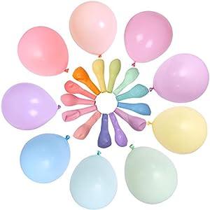 100 Piezas Multicolor Globos Pastel 10 Pulgadas Macaron Latex Balloon Globos de Helio Globos de Fiesta para Decoraciones de Cumpleaños Bodas Fiestas Aniversario Baby Shower