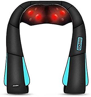 Arealer Masajeador de Hombros Eléctrico para el Cuello, Cervical Shiatsu Masajeador con Calor de Cuello, con Rotación 3D Masaje y 3 Velocidades Ajustables, para el Automóvil de la Oficina en Casa