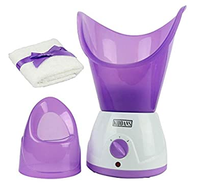 KIDDANS Professional Nano Face Steamer - Portable Facial Steaming Set with Mask, Inhaler and Towel - Open Pores, Reduce Blackheads, Improve Blood Flow - Sinus and Cold Relief - Safe and Easy to Use from Kiddans
