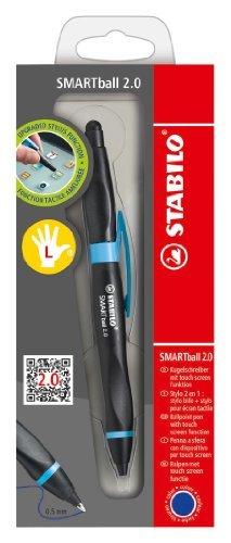 Ballpoint -STABILO SMARTball 2.0 Left Handed Black/Cyan Blue Ink