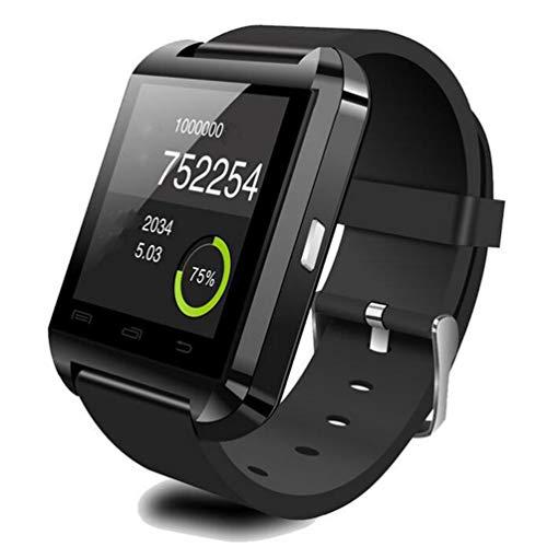 Sensiabl U80 Reloj Inteligente con cámara Fitness Podómetro Sleep Monitor SMS Call Black
