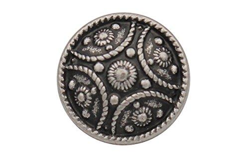 wunderschöne Silber antik Metall Knöpfe Jacke Trachten Dirndl Trachtenjacke Made in Germany 17mm (5 Stück)