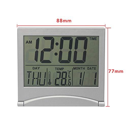 Renqian Projectiewekker met weerstation, thermometer, datumweergave, digitale klok, USB-lader, snooze, led-projectie Klein