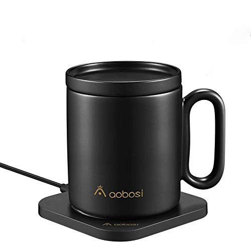 AAOBOSI Mug Warmer, Coffee Mug Warmer with Wireless Charger (2 in 1), Wireless Charging, Constant Temperature for Keeping Warm (about 122°F/50°C)
