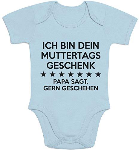 Shirtgeil Ich Bin Dein Muttertagsgeschenk Papa SAGT Gern Geschehen Baby Body Kurzarm-Body 0-3 Monate Hellblau
