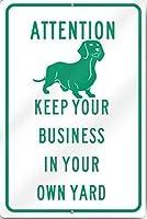 アルミメタルノベルティ危険サインイン、注意あなたのビジネスをあなた自身の庭に保つ、公園の看板公園ガイド警告サイン私有財産のための金属屋外の危険サイン