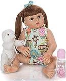 GAOFQ Reborn Baby Doll 23Inch 57Cm Full Body Vinyl Silicone Toddler Alive Babies Doll Baby Bathe Toy Kids Birthday Children's Day Present, D