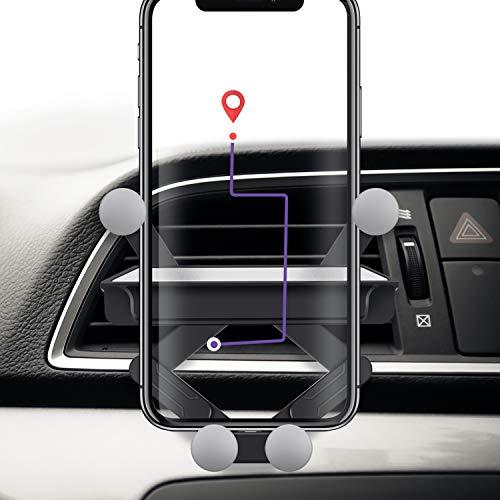 車載スマホホルダー 片手操作 FORWEWAY 車載ホルダー エアコン吹き出し口式 スマホスタンド 車 自由調節 360度回転 携帯ホルダー 重力式自動開閉 あらゆる携帯電話に対応 安定性抜群