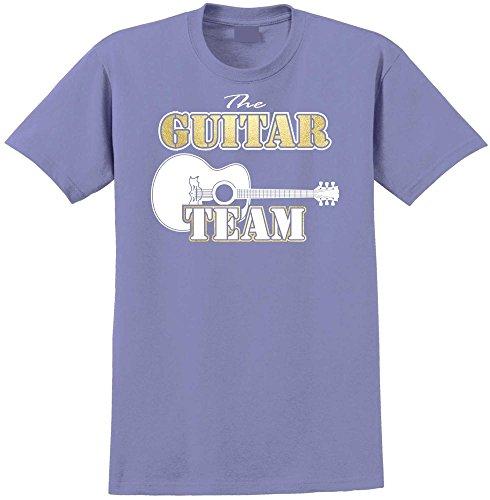 MusicaliTee Acoustic Guitar Team - Violett T Shirt Größe 87cm 36in Small
