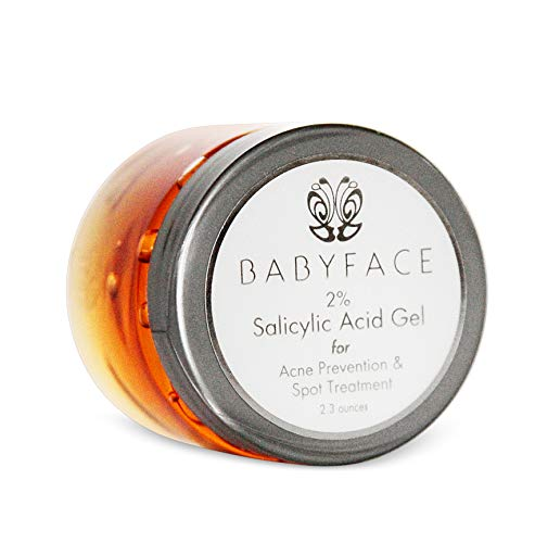 Babyface 2% BHA Salicylic Acid Gel Spot Treatment Acne, Blackheads, Shaving & Waxing Bumps, 2.3oz.